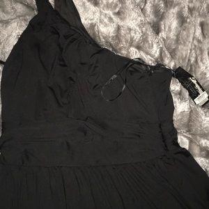 Dresses & Skirts - Black gown one shoulder